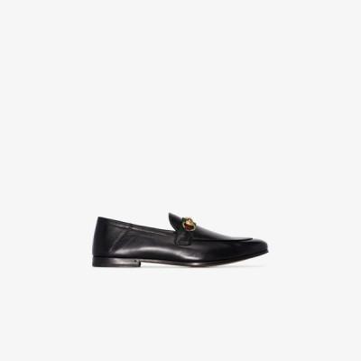 グッチ Gucci メンズ ローファー シューズ・靴 Black Horsebit Web leather loafers black