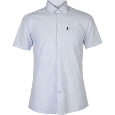 バブアー Barbour メンズ 半袖シャツ トップス Seersucker Short Sleeve Tailored Shirt Sky