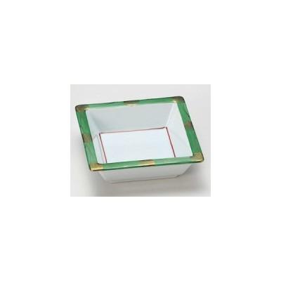 松花堂青武蔵野角鉢/大きさ・11.3×11.3×3.5cm