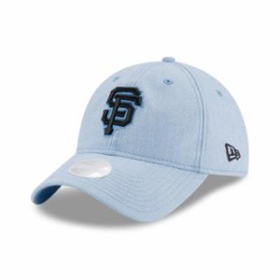 New Era ニュー エラ スポーツ用品  New Era San Francisco Giants Womens Light Blue 2018 Fathers Day 9TWENTY Adjustable