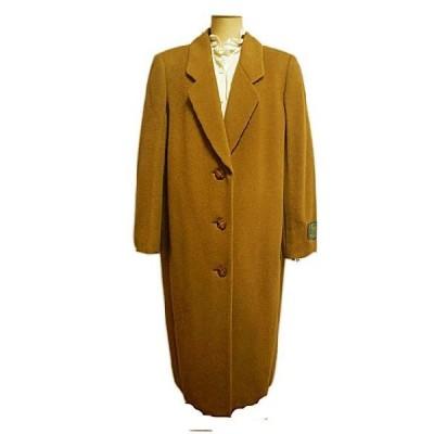 ロングコート ピュアカシミヤ キャメル ブラウン 11号 Lサイズ シングル Renown レディースファッション ミセス 送料無料