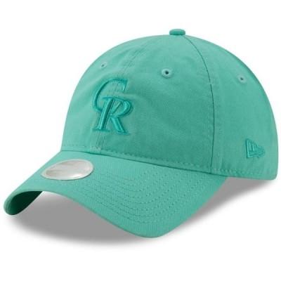 レディース スポーツリーグ メジャーリーグ Colorado Rockies New Era Women's Blue Tint Core Classic 9TWENTY Adjustable Hat - Aqua - O