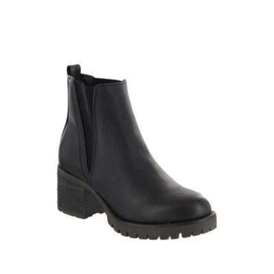 ミア レディース ブーツ&レインブーツ シューズ Jody Ribbed Block Heel Chelsea Boot BLACK