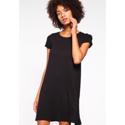 オンリー レディース ワンピース トップス BERA  - Jersey dress - black black