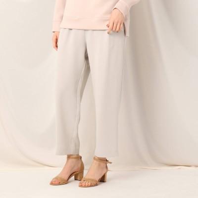 クチュール ブローチ Couture brooch アセテートポリエステルイージーパンツ (ライトグレー)