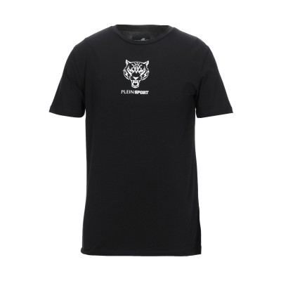プレイン・スポーツ PLEIN SPORT T シャツ ブラック S コットン 95% / ポリウレタン 5% T シャツ