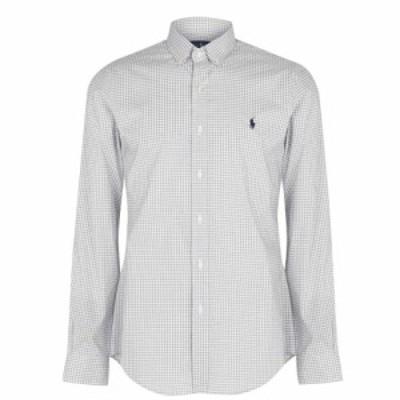 ラルフ ローレン Polo Ralph Lauren メンズ シャツ スリム トップス Gingham Poplin Slim Fit Shirt Grey/White