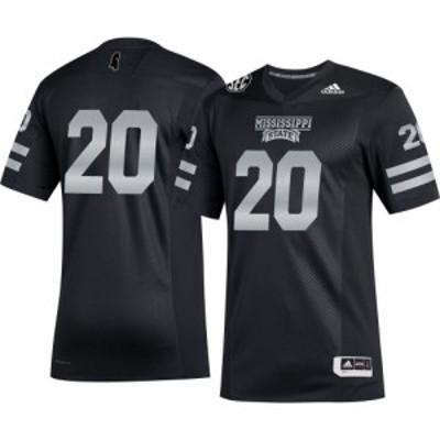 アディダス adidas メンズ トップス Mississippi State Bulldogs #20 Alternate Football Black Jersey