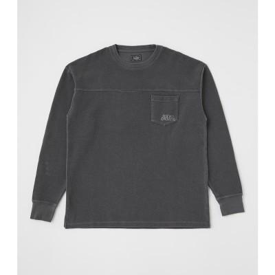 ピグメントポケット L/S Tシャツ BLK