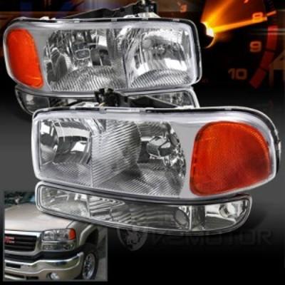 ヘッドライト 1999-2006 GMC Sierra Yukon XLクリスタルフロントヘッドライト Bum