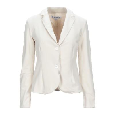 EUROPEAN CULTURE テーラードジャケット アイボリー XL コットン 95% / ポリウレタン® 5% テーラードジャケット