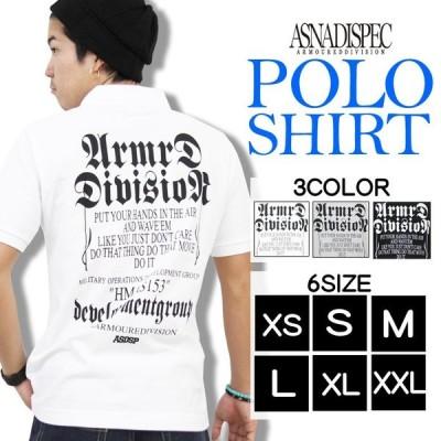 ポロシャツ 半袖 カノコポロシャツ メンズ アメカジ XS S M L XL XXL 3L 大きいサイズ ASNADISPEC アスナディスペック トップス 白 黒 夏 ゴルフ
