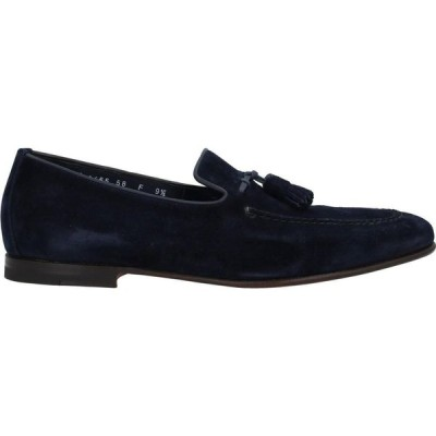 サントーニ SANTONI メンズ ローファー シューズ・靴 Loafers Slate blue