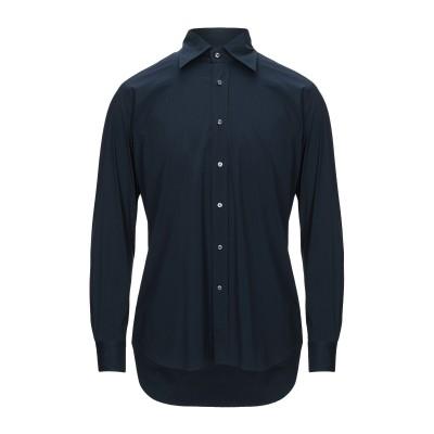 タリアトーレ TAGLIATORE シャツ ダークブルー 40 コットン 75% / ナイロン 23% / ポリウレタン 2% シャツ