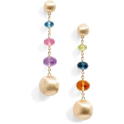 マルコ ビチェゴ ピアス&イヤリング アクセサリー レディース Africa Semiprecious Stone Drop Earrings Yellow Gold