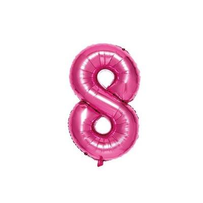 いろは出版 ナンバーバルーン [8] SFNP-08 ピンク│パーティーグッズ 風船・バルーン 東急ハンズ