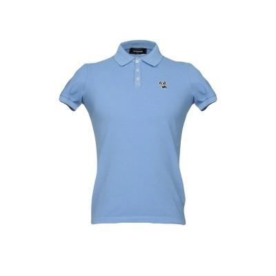 ディースクエアード DSQUARED2 ポロシャツ アジュールブルー M コットン 100% ポロシャツ