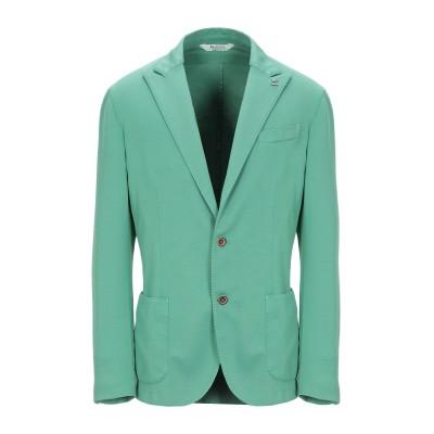 BOTTEGA MARTINESE テーラードジャケット グリーン 50 コットン 57% / ナイロン 38% / ポリウレタン 5% テーラード