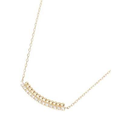 ネックレス K18ダイヤモンド 丸玉アーチ ネックレス