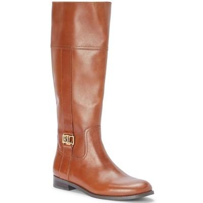 ラルフローレン ブーツ&レインブーツ シューズ レディース Women's Berdie Riding Wide-Calf Boots Deep Saddle Tan