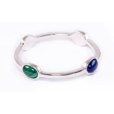 ジェムストーン 海外セレクション Simon Sebbag 4 Stone Dark Blue Multi Sterling Silver Bracelet Bangle BS34/DBM