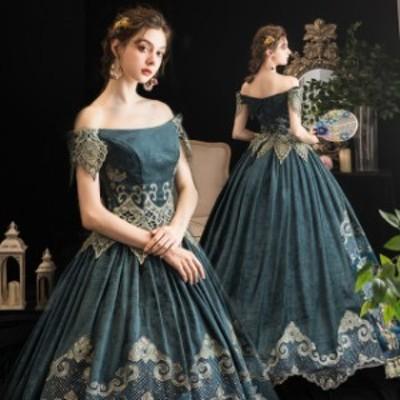 学園祭 ハロウィン ドレス ステージドレス プリンセスライン ヨー ステージ衣装 文化祭 ドレス貴族 舞踏会 オペラ声楽 お姫様ドレス 中世