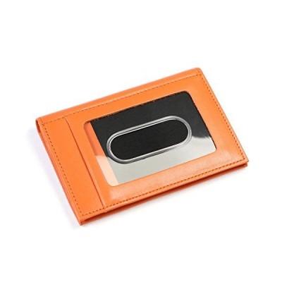 革職人 Primary (プライマリー) パスケース 二つ折り 小銭入れ付き 本革 万能 パスケース PR001 OR (オレンジ)