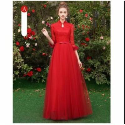 Aライン ウェディングドレス 着痩せ プリンセスライン 人気 パーティードレス 花嫁 素敵 大きいサイズ 二次会 キレイめ 6色入 結婚式 ブ