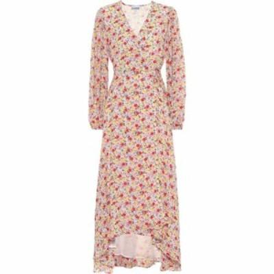 ガニー Ganni レディース ワンピース ラップドレス ワンピース・ドレス Exclusive to Mytheresa - floral georgette wrap dress Egret Pr