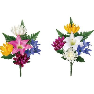 造花 YDM 仏花ブッシュS アソート いずれか1つ。お選びいただけません。 FP-0856-AST 造花ギフト 仏花