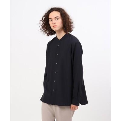 【ティーケー タケオキクチ】 TRバンドカラーシャツ(ユニセックスアイテム) ユニセックス ネイビー 05(3L) tk.TAKEO KIKUCHI