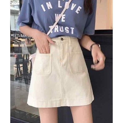 スカート デニム 【ACT -fascination design-】ポケットミニデニムスカート