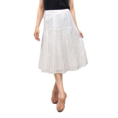 ARAMIS(アラミス)刺繍スカート(サイズ38)(オフホワイト)