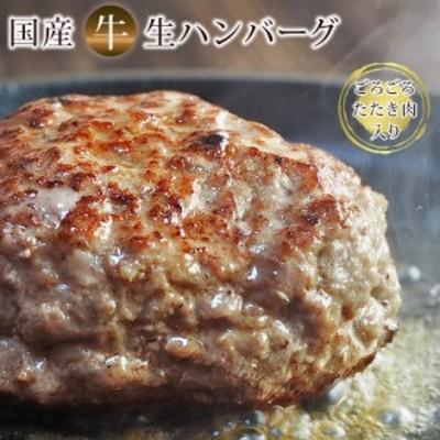 国産牛100% たたき肉たっぷり 肉肉食感 生ハンバーグ ハンバーグソース付き 牛肉 敬老の日 残暑見舞い ギフト お取り寄せ 内祝 御祝 誕生