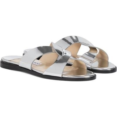 ジミー チュウ Jimmy Choo レディース サンダル・ミュール シューズ・靴 atia metallic leather sandals Silver
