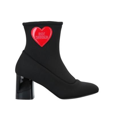 ラブ モスキーノ LOVE MOSCHINO ショートブーツ ブラック 39 紡績繊維 ショートブーツ