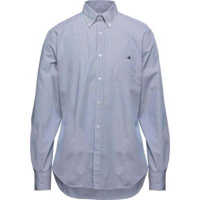 ブルックスフィールド BROOKSFIELD メンズ シャツ トップス striped shirt Blue