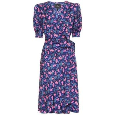 マーク ジェイコブス Marc Jacobs レディース ワンピース ラップドレス ワンピース・ドレス floral silk wrap dress Navy Multi