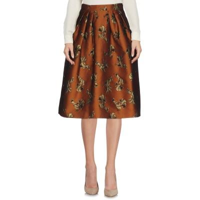 ピンコ PINKO ひざ丈スカート ブラウン 40 ポリエステル 88% / 金属繊維 6% / アクリル 6% ひざ丈スカート