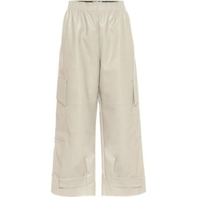 ステラ マッカートニー Stella McCartney レディース カーゴパンツ レザーパンツ ボトムス・パンツ Sylvia Faux Leather Cargo Pants Clay