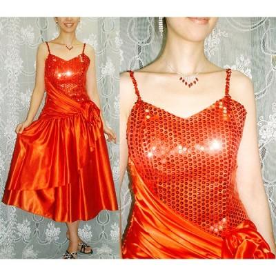 【ROBERTA】パーティードレス [スパンコール付きの可愛いドレス] パニエ付き AA-009