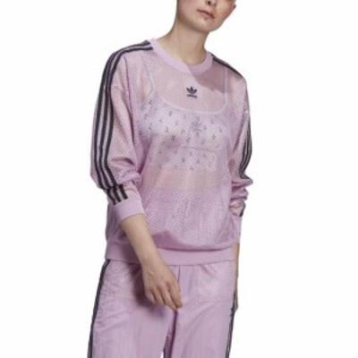 (取寄)アディダス オリジナルス レディース メッシュ クルー adidas originals Women's Mesh Crew Magic Berry