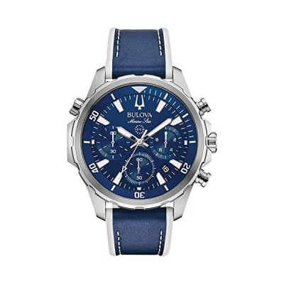 腕時計 ブローバ メンズ 96B287 Bulova Marine Star Chronograph Mens Watch, Stainless Steel with Blue S