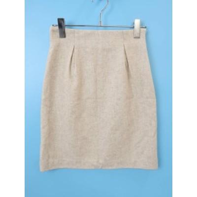 mirche(ミルシェ)バックリボンウールタイトスカート ベージュ レディース Sランク 36