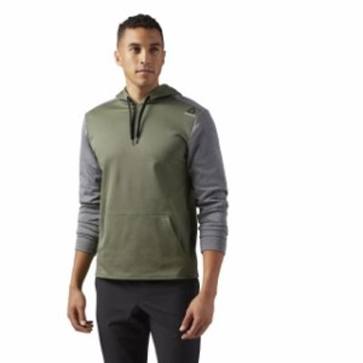 Reebok リーボック ファッション トップス [BR0310] New Mens REEBOK US FLC HD S Pullover Training Hoodie - Green Grey