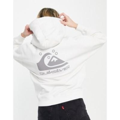 クイックシルバー レディース パーカー・スウェット アウター Quiksilver Oversized hoodie in white Lily white