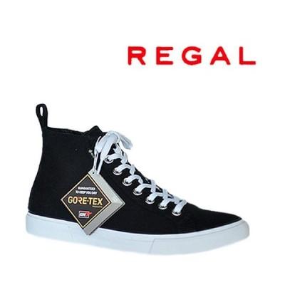 リーガル 58UR B REGAL メンズ ゴアテックス キャンバス ハイカットスニーカー  ブラック