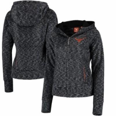 289c Apparel 289アパレル スポーツ用品  Texas Longhorns Womens Heathered Black Bluewag Full-Zip Hooded Jacket