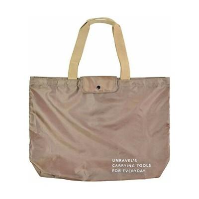 L'ABSURDE ラ・アプス 折りたたみ ショッピングバッグ 買物袋 マルクト エコバッグ L ベージュ TR-414