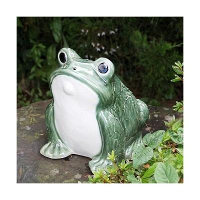 信楽焼 カエル君(緑色) 縁起物のカエル[ka-0064]